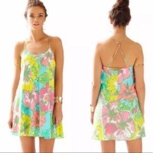Lilly Pulitzer Missy Silk Strappy Dress Sz XXS